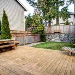 Backyard with an Entertainer's Deck
